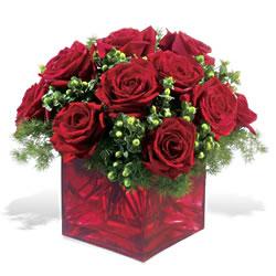 Kayseri özvatan çiçek çiçek , çiçekçi , çiçekçilik  9 adet kirmizi gül cam yada mika vazoda