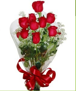 Kayseri çiçek çiçek online çiçek siparişi  10 adet kırmızı gülden görsel buket