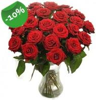 Vazo içerisinde 25 adet kırmızı gül  Kayseri çiçek anneler günü çiçek yolla