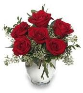 Vazo içerisinde 5 adet kırmızı gül  Kayseri çiçek internetten çiçek siparişi