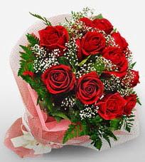 12 adet kırmızı güllerden kaliteli gül  Kayseri çiçek uluslararası çiçek gönderme