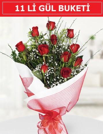 11 adet kırmızı gül buketi Aşk budur  Kayseri çiçek çiçek satışı