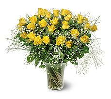 Kayseri çiçek çiçek siparişi vermek  15 adet sarigül mika yada cam vazoda