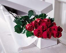 Kayseri çiçek çiçekçi mağazası  özel kutuda 12 adet gül