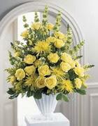 Kayseri çiçek çiçek siparişi vermek  sari güllerden sebboy tanzim çiçek siparisi