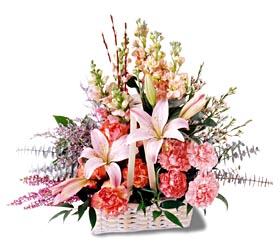 Kayseri çiçek çiçek siparişi vermek  mevsim çiçekleri sepeti özel tanzim
