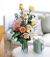 Kayseri çiçek çiçek siparişi sitesi  cam yada mika vazo içerisinde gül kazablanka