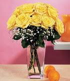 Kayseri çiçek online çiçek gönderme sipariş  9 adet sari güllerden cam yada mika vazo