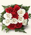 Kayseri çiçek çiçek siparişi sitesi  10 adet kirmizi beyaz güller - anneler günü için ideal seçimdir -