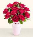 Kayseri çiçek çiçekçiler  10 kirmizi gül cam yada mika vazo tanzim