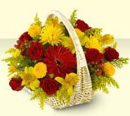 Kayseri çiçek çiçek servisi , çiçekçi adresleri  sepette mevsim çiçekleri