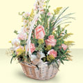 Kayseri çiçek çiçek servisi , çiçekçi adresleri  sepette pembe güller