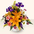 Kayseri çiçek çiçek servisi , çiçekçi adresleri  sepet içinde karisik çiçekler