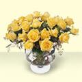 Kayseri çiçek hediye çiçek yolla  11 adet sari gül cam yada mika vazo içinde