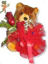 oyuncak ayi ve gül tanzim  Kayseri çiçek cicek , cicekci