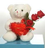 3 adetgül ve oyuncak   Kayseri melikgazi çiçek çiçek yolla
