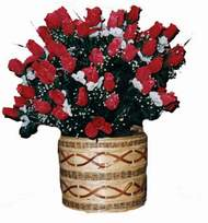 yapay kirmizi güller sepeti   Kayseri çiçek çiçek yolla , çiçek gönder , çiçekçi