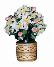 yapay karisik çiçek sepeti   Kayseri çiçek yurtiçi ve yurtdışı çiçek siparişi
