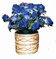 yapay mavi çiçek sepeti  Kayseri çiçek hediye sevgilime hediye çiçek