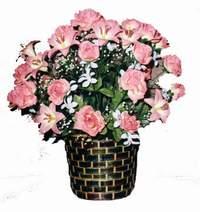 yapay karisik çiçek sepeti  Kayseri çiçek güvenli kaliteli hızlı çiçek