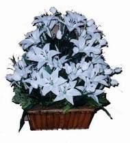 yapay karisik çiçek sepeti   Kayseri çiçek 14 şubat sevgililer günü çiçek