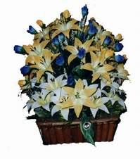 yapay karisik çiçek sepeti   Kayseri çiçek ucuz çiçek gönder