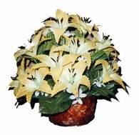 yapay karisik çiçek sepeti   Kayseri çiçek çiçek siparişi vermek