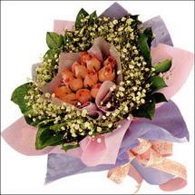 11  adet  gül ve   elyaflar   Kayseri çiçek internetten çiçek siparişi