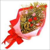 12 adet renkli  gül buketi   Kayseri çiçek internetten çiçek siparişi