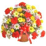 karisik renkli çiçek sepet   Kayseri çiçek çiçek satışı