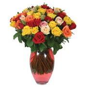 51 adet gül ve kaliteli vazo   Kayseri çiçek çiçek satışı