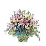 sepette kazablanka ve güller   Kayseri çiçek ucuz çiçek gönder
