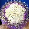 71 adet beyaz gül buketi   Kayseri çiçek çiçek siparişi sitesi