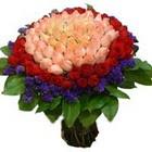 71 adet renkli gül buketi   Kayseri çiçek internetten çiçek satışı