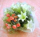 Kayseri özvatan çiçek çiçek , çiçekçi , çiçekçilik  lilyum ve 7 adet gül buket