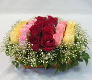15 adet reprenkli gül sepeti   Kayseri özvatan çiçek çiçek , çiçekçi , çiçekçilik