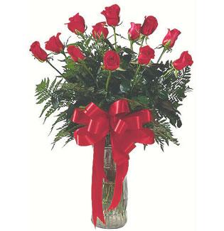 12 adet gül cam içerisinde  Kayseri çiçek hediye sevgilime hediye çiçek