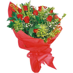 11 adet gül buketi sade ve görsel  Kayseri çiçek hediye sevgilime hediye çiçek