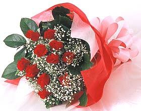 12 adet kirmizi gül buketi  Kayseri çiçek anneler günü çiçek yolla
