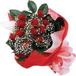 Kayseri çiçek online çiçek gönderme sipariş  KIRMIZI AMBALAJ BUKETINDE 12 ADET GÜL
