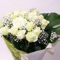 Kayseri çiçek çiçekçiler  11 adet sade beyaz gül buketi