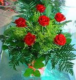 6 adet kirmizi gül buketi   Kayseri çiçek 14 şubat sevgililer günü çiçek