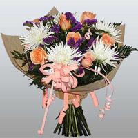 güller ve kir çiçekleri demeti   Kayseri çiçek cicek , cicekci