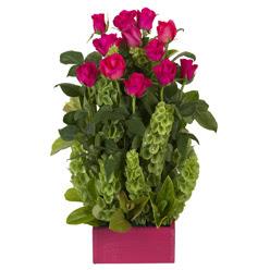 12 adet kirmizi gül aranjmani  Kayseri çiçek online çiçekçi , çiçek siparişi
