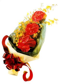 özel 5 adet antorium buketi   Kayseri çiçek çiçek satışı