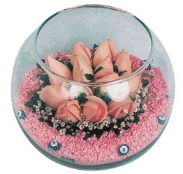 Kayseri çiçek online çiçek gönderme sipariş  cam fanus içerisinde 10 adet gül