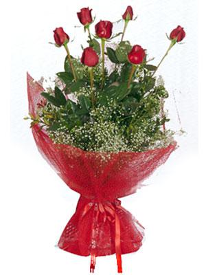 Kayseri çiçek yurtiçi ve yurtdışı çiçek siparişi  7 adet gülden buket görsel sik sadelik