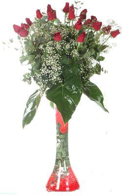 Kayseri çiçek çiçek online çiçek siparişi  19 ADET GÜL VE FIL CAM AYAGI