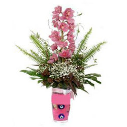 Kayseri çiçek çiçekçiler  cam yada mika vazo içerisinde tek dal orkide çiçegi