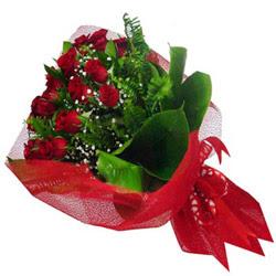 Kayseri çiçek çiçek yolla , çiçek gönder , çiçekçi   12 adet kirmizi essiz gül buketi - SEVENE ÖZEL